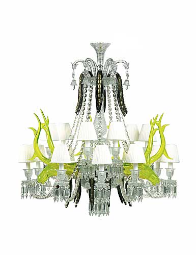 Baccarat Crystal, Etrange Zenith Sur La Lagune 15 Light Chandelier, Limited Edition