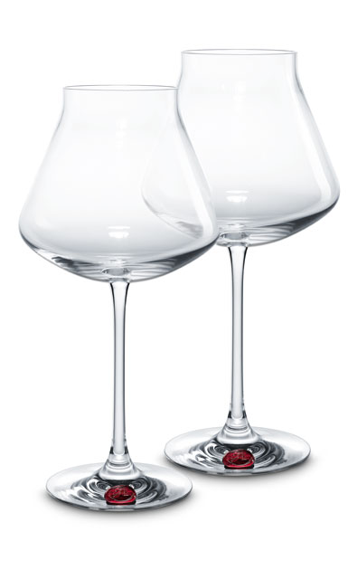 Baccarat Chateau Baccarat Degustation XL Wine Glasses, Red Seal, Pair