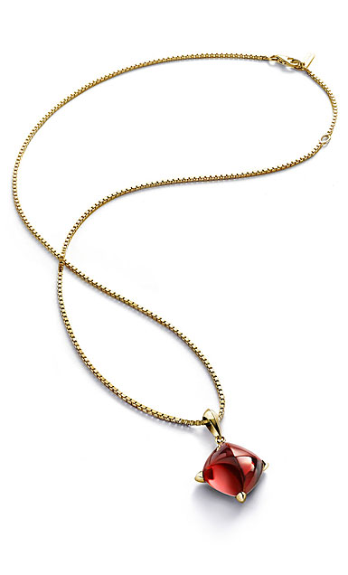 Baccarat Medicis Necklace Vermeil Gold, Red Mirror