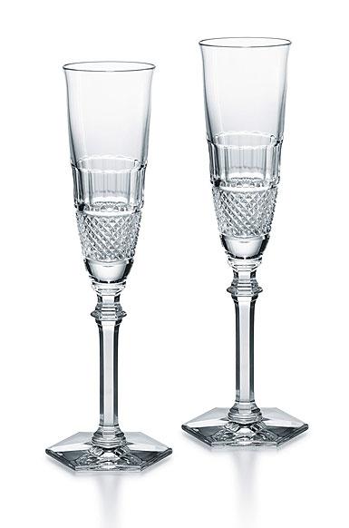 Baccarat Diamant Champagne Flute Pair
