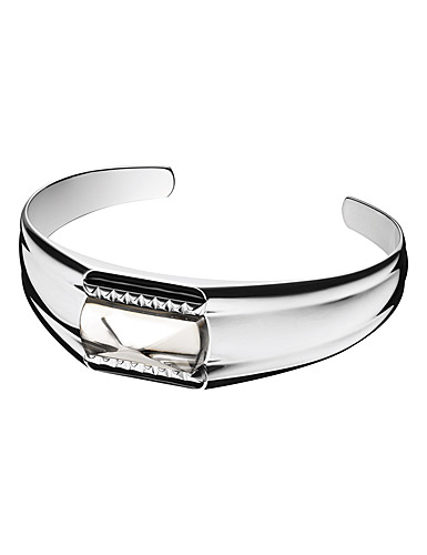 Baccarat Crystal Louxor Large Bracelet, Silver and Mist Mirror