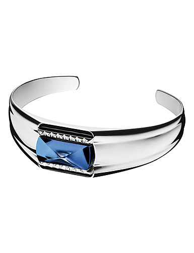 Baccarat Crystal Louxor Large Bracelet, Silver and Blue Mordore