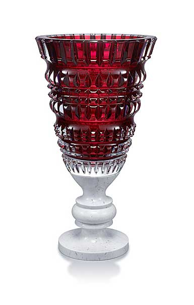 Baccarat Crystal, New Antique Red Crystal Vase, Limited Edition