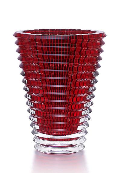 Baccarat Crystal, Eye Extra Large Crystal Vase, Red