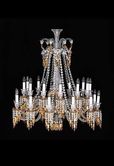 Baccarat Crystal, Zenith Charleston 24 Light Crystal Chandelier, Short