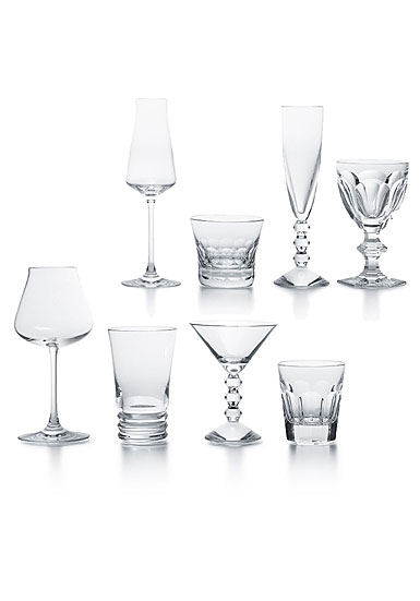 Baccarat Crystal, Cocktail In A Box Boxed, Set of Eight Glasses, Classic