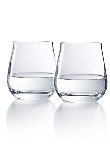 Chateau Baccarat, Degustation Stemless Wine Tumbler No. 2, Boxed Pair