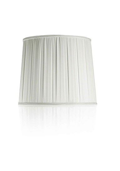 Baccarat Crystal, Krysta Pleated Crystal Lampshade, White