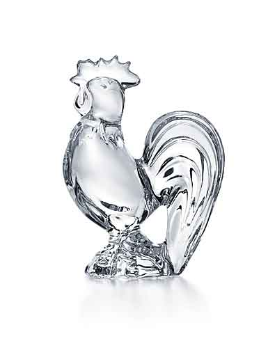 Baccarat Zodiac Rooster, Clear