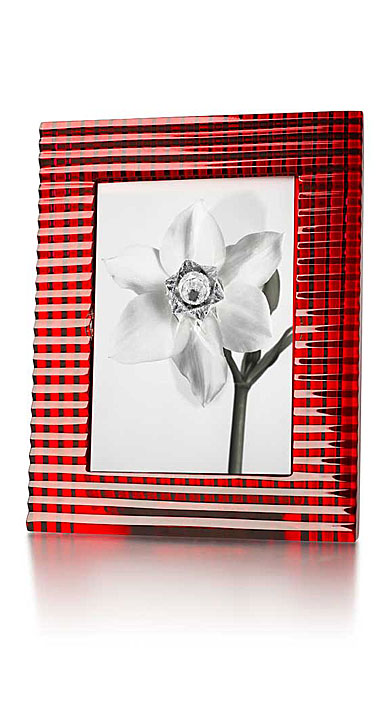 "Baccarat Crystal, 5x7"" Eye Picture Frame, Red"