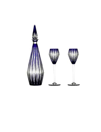 Baccarat Crystal Blue Memoire Chevalier Service Set, Limited Edition of 100, Special Order