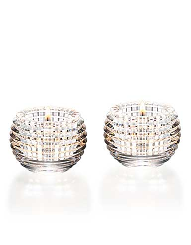 Baccarat Crystal, Eye Clear Crystal Votive, Pair