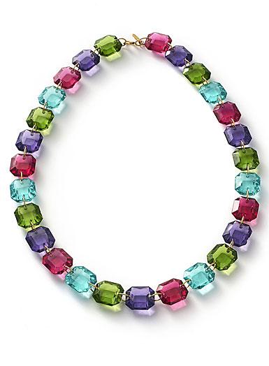 Baccarat Crystal Marie-Helene De Taillac Necklace Vermeil Gold Multicolor
