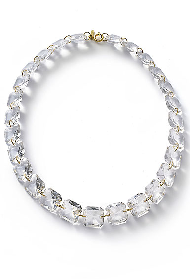 Baccarat Crystal Marie-Helene De Taillac Necklace Vermeil Gold Clear