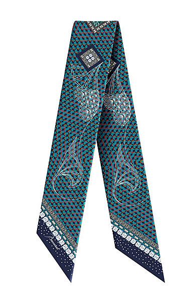 Baccarat Louxor Silk Tie 3'' X 40'', Blue