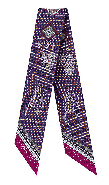 Baccarat Louxor Silk Tie 3'' X 40'', Purple