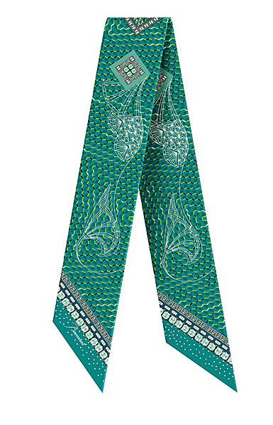 Baccarat Louxor Silk Tie 3'' X 40'', Green