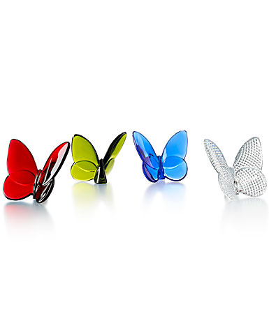 Baccarat Crystal, Lucky Butterfly, Set of Four