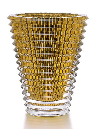 Baccarat Crystal, XL Eye Crystal Vase, Amber