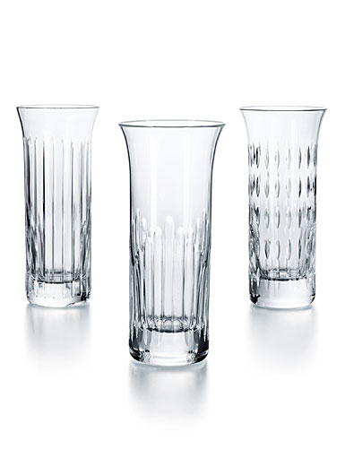 Baccarat Flora Bud Vases, Set of 3