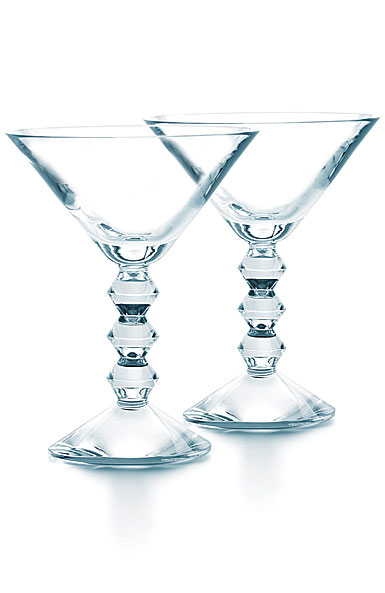 Baccarat Crystal, Vega Crystal Martini Glass Clear, Pair