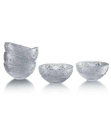 Baccarat Crystal, Arabesque Small Crystal Bowls, Set of 6