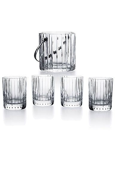Baccarat Crystal, Harmonie On The Rocks Ice Bucket and Tumblers Set