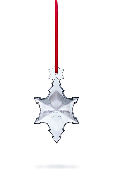 Baccarat Crystal, 2017 Annual Snowflake Crystal Ornament, Clear