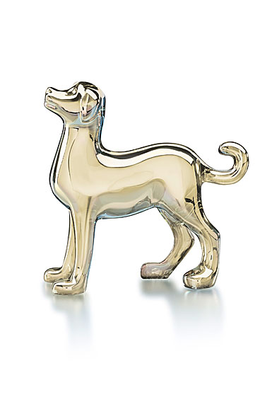 Baccarat Crystal, Zodiac Dog, Gold