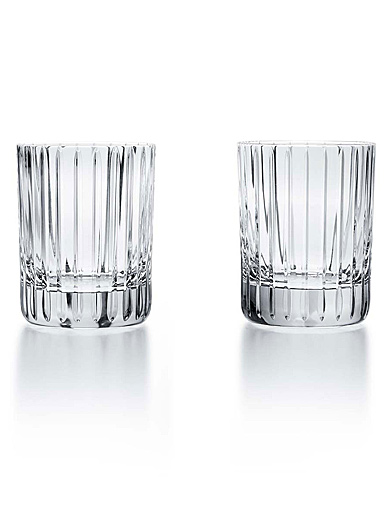 Baccarat Crystal, Harmonie Triple Crystal Old Fashioned Tumbler, XL Tumblers, Pair