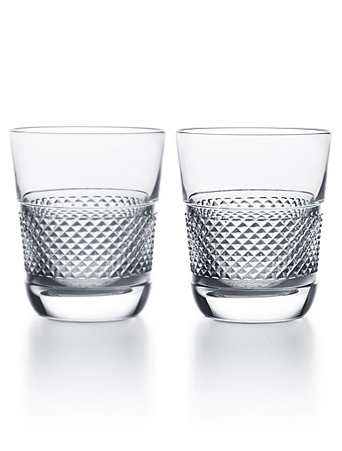 Baccarat Crystal, Diamant Crystal DOF Tumbler No. 2, Pair