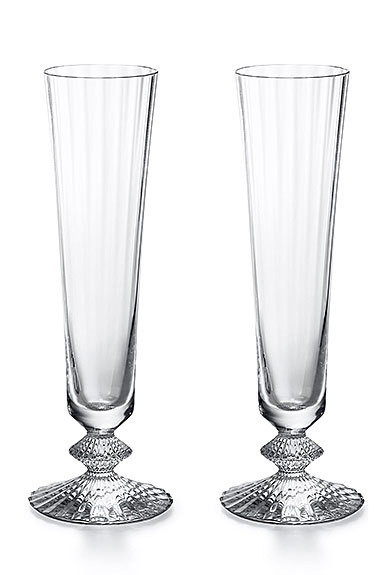 Baccarat Crystal, Mille Nuits Champagne Crystal Flute, Pair