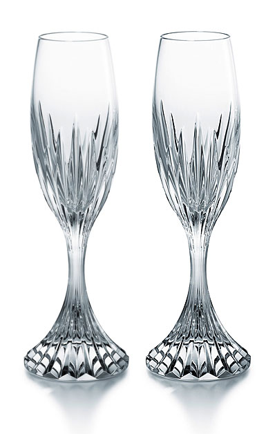 Baccarat Crystal, Massena Champagne Crystal Flute, Pair