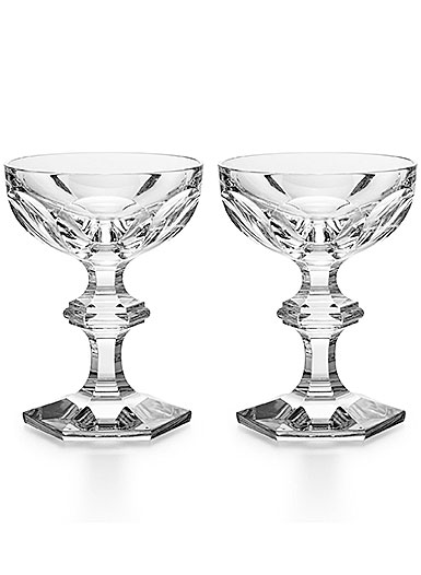 Baccarat Crystal, Harcourt 1841 Cocktail Champagne Coupe, Pair