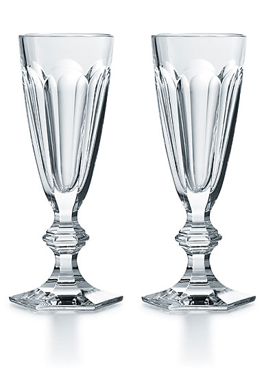 Baccarat Crystal, Harcourt 1841 Crystal Champagne Crystal Flute, Pair