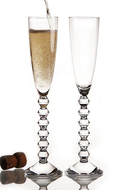 Baccarat Crystal, Vega Flutissimo Clear Crystal Flute, Pair