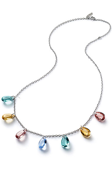 Baccarat Crystal Marie-Helene De Taillac Necklace Sterling Silver Multicolor