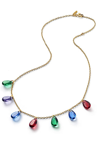 Baccarat Crystal Marie-Helene De Taillac Necklace Vermeil Gold Yellow Gold