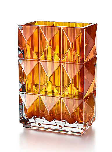 Baccarat Crystal, Louxor Crystal Vase, Amber