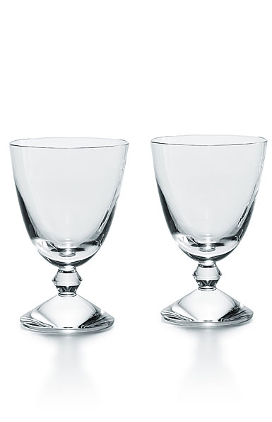 Baccarat Crystal Vega Clear Water Glass Pair