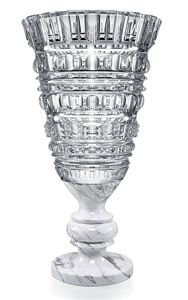 Baccarat Crystal New Antique Clear Vase, Limited Edition Of 99