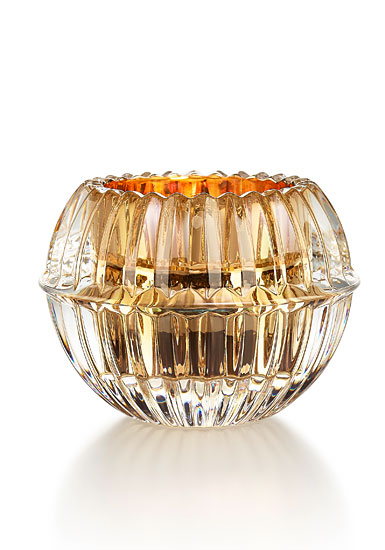 Baccarat Crystal Mille Nuits Gold Votive by Mathias, Single