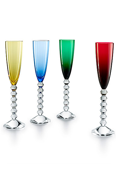 Baccarat Vega Flutissimo Toasting Flutes Set of Four