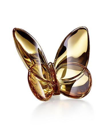 Baccarat Crystal Papillon Lucky Butterfly 20K Gold