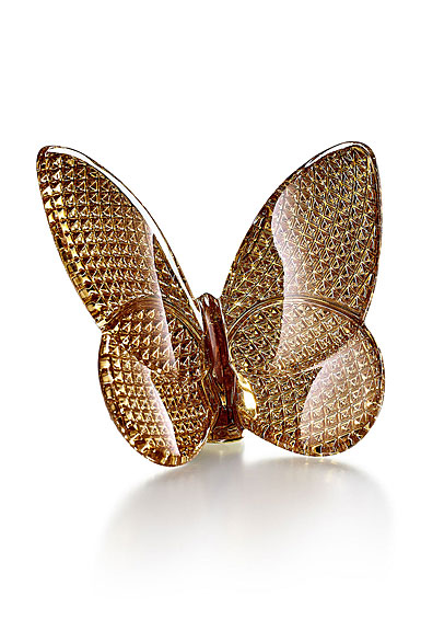 Baccarat Diamant 20K Gold Butterfly Sculpture