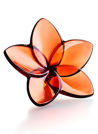 Baccarat Bloom Mahogany Flower Sculpture