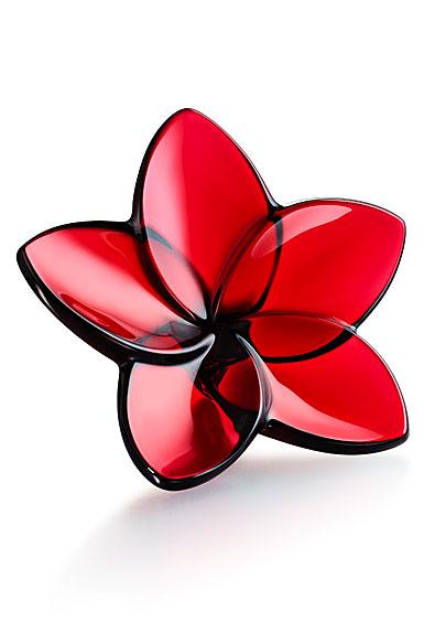 Baccarat Bloom Red Flower Sculpture
