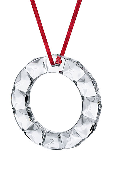 Baccarat Christmas Wreath Ornament 2019, Clear