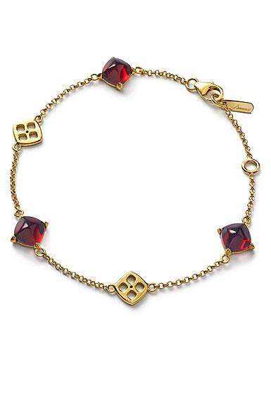 Baccarat Mini Medicis Bracelet Vermeil Gold, Red