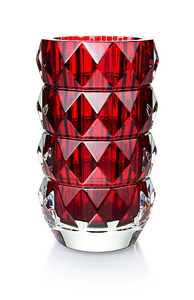 "Baccarat Louxor 9"" Round Red Vase"